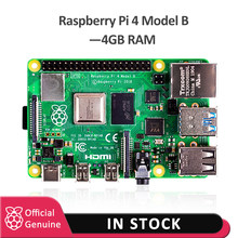 2019 Original Official Raspberry Pi 4 Model B 4GB RAM Development Board v8 1.5GHz Support 2.4/5.0 GHz WIFI Bluetooth 5.0(China)