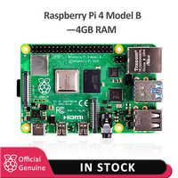 2019 Original officiel framboise Pi 4 modèle B 4GB RAM carte de développement v8 1.5GHz prise en charge 2.4/5.0 GHz WIFI Bluetooth 5.0