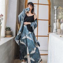 Ukiyo e японское кимоно платье для женщин кран vinatge yukata