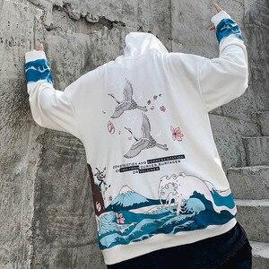 Image 5 - 2019 Hip Hop Hoodies Streetwear Japanischen Große Welle Kran Hoodie Sweatshirt Harajuku Männer Pullover Hoodie HipHop Übergroßen Baumwolle