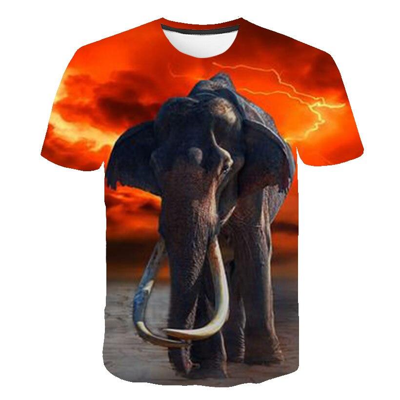Elephant Tshirt Kids Animal T-shirt Harajuku 3d Print T Shirt Anime Clothes Gothic Hip Hop Mens Clothing Streetwear 2020 New