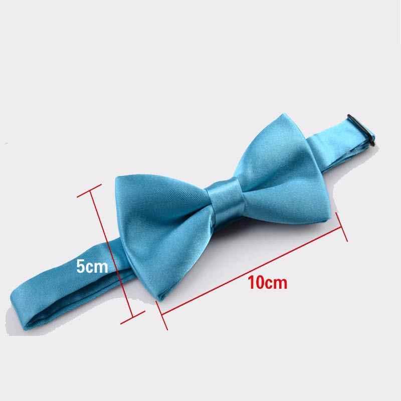 Hot dla dzieci poliester jedwabny łuk krawaty regulowane chłopiec dziewczyna uczeń dziecko Bowtie stałe motyle Vintage smokingi dla Party prezent