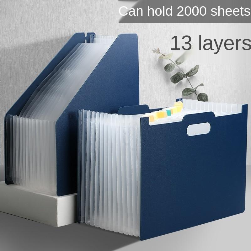 Portable File Folder Desk Document Paper Organizer Storage Holder Multilayer Expanding Box Office Stationery Folders Filing