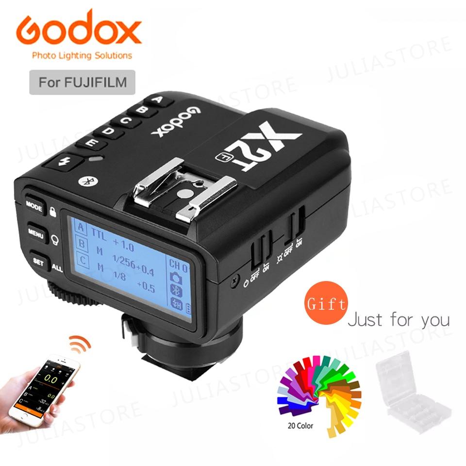 Godox X2T-F X2TF i-TTL Bluetooth 1/8000s HSS 2,4 г Беспроводной с триггерным управлением для ЖК-дисплея с подсветкой Fujifilm Камера V1 TT685F AD200 AD300P