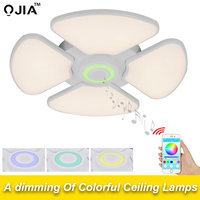 Celing Lights luminaria Music Light Cold White +Warm White Intelligent APP Control Lampshade dome acrylic led lamps fixtures