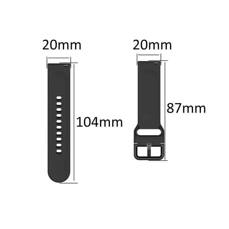 Taglia S Smart Watch Band Per Samsung Galaxy Orologio Attivo Active2 Ufficiale Modelli Cinturino In Silicone Wristband Del Braccialetto Per Lo Sport