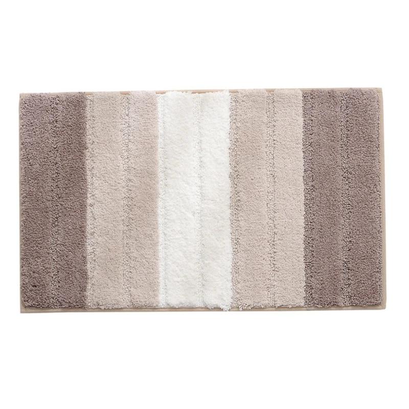 Non Slip Bath Mats For Bathroom Microfiber Absorbent Bathroom Rugs Machine Washable Bath Rugs 45x65cm Brown White Carpet Aliexpress