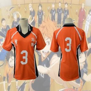 Image 2 - Haikyuu تأثيري Karasuno زي المدرسة الثانوية للكرة الطائرة نادي هيناتا Shoyo ملابس رياضية جيرسي موحدة