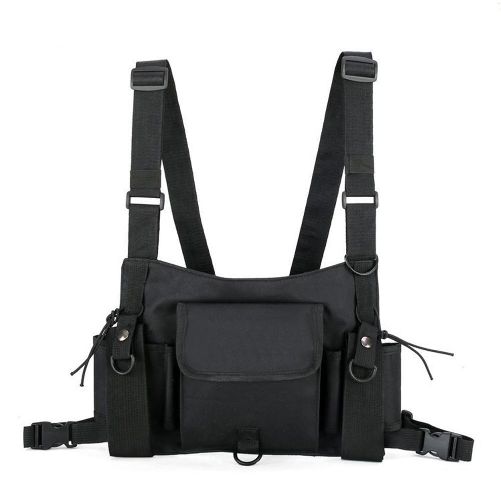 2020 Fashion Chest Rig Waist Bag Hip Hop Streetwear Functional Tactical Chest Bag Cross Shoulder Bags Men Vest Streetwear Pack