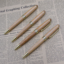 (12 أجزاء/وحدة) الفاخرة الخيزران أقلام للكتابة أداة القرطاسية القرطاسية مكتب المدرسة اكسسوارات 0.5 مللي متر الأسود الحبر الكرة القلم