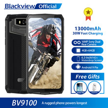 Blackview BV9100 IP68 Impermeabile Del Cellulare 13000 Mah 30W Ricarica Veloce 4G Del Telefono Mobile MTK6765 4 Gb + 64 gb 16.0MP Rugged Smartphone(China)