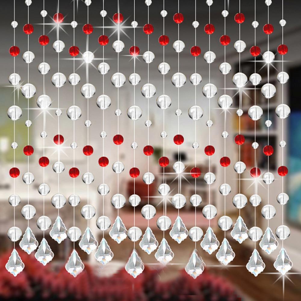 Занавеска из хрустального стекла с бусинами, роскошная занавеска для гостиной, спальни, окна, двери, Свадебный декор, занавеска из бусин с по...