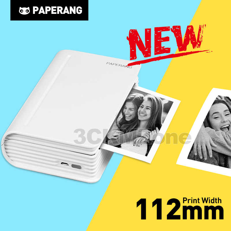 Paperang Max 112 Mm Portable Thermal Bluetooth Printer Mini Foto Foto Printer untuk Ponsel Android IOS Ponsel Saku Mesin