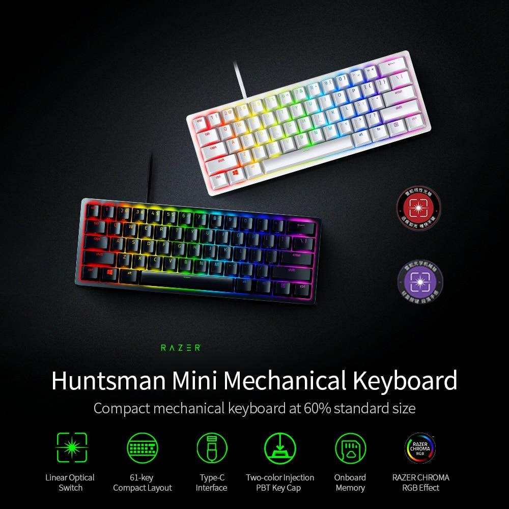 Permalink to Razer Huntsman Mini Gaming Mechanical Keyboard Clicky Optical/Linear Switch 61 Keys Wired RGB Keyboard for PC Gamer Balck/Silver