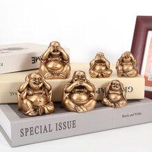 Майтрея три украшения, украшения для дома, не слушайте, не смотрите, не говорите, статуя Будды, Смеющийся Будда