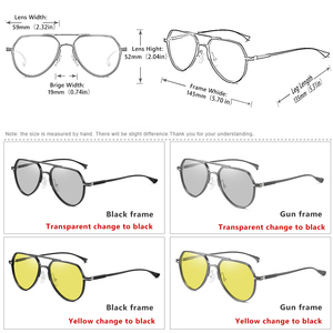 Image 5 - CoolPandas Brand Design Aviation Sunglasses Pilot Men Photochromic Women Driving Glasses Anti Glare UV400 Lens zonnebril heren