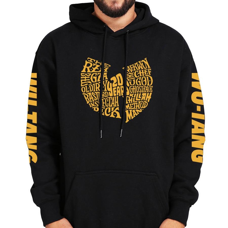 Wu Tang Clan Hoodies Fashion Hip Hop Band Logo Design Hoodies Fashion Representative Hodded Long Sleeve Sweatshirt