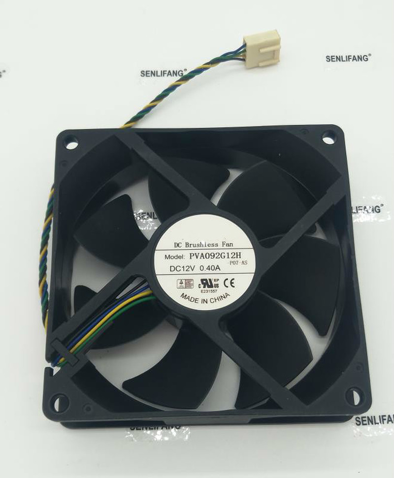 For PVA092G12H 92x92x25mm PWM DC12V 0.4A 4wire 4pin For Dell For HP Cooling Fan Free Shipping