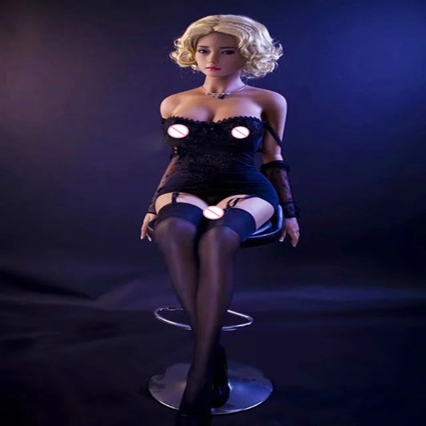 160CM-8# Sex Doll  Blonde Beautiful Sexy Woman Sex Robot Full TPE With Metal Skeleton Love Doll Men's Sex Toy Masturbation
