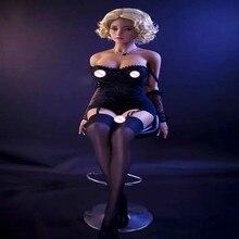 160CM 8 # seks lalka blondynka piękna seksowna kobieta seks robot pełna TPE z metalową lalka erotyczna ze szkieletem męska seks zabawka masturbacja