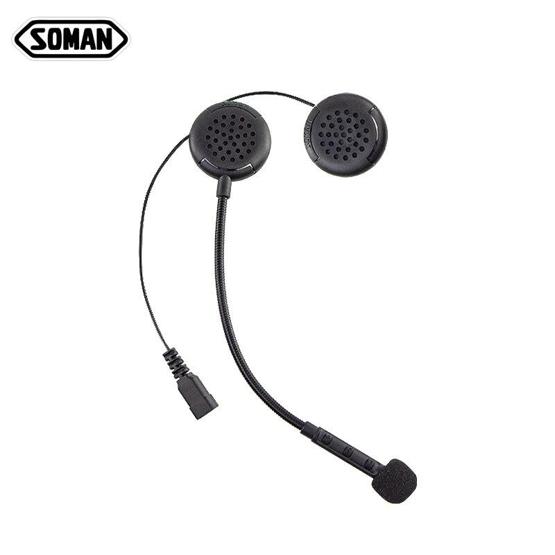 Soman Bluetooth Headset Motorcycle Helmets Headphone Wireless Casco Microphone Control Mp3 4 Radio Sm M1 Helmet Headsets Aliexpress