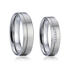 Custom-made Designer alliance wedding band couple rings for men and women jewelry accessories marriage titanium finger ring china supplier his and hers gold color titanium wedding band finger rings women