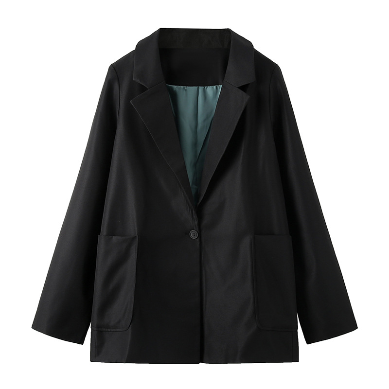 Casual women's blazer jacket plus size XL-5XL 2020 new spring and autumn black ladies small suit High quality coat suit Female