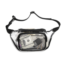 Waist Bag womens  Pillow Solid PVC Clear Fanny Pack Belt