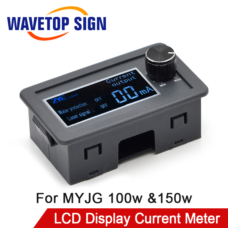 WaveTopSign LCD Display CO2 Current Meter External Screen For MYJG100W &150W Co2 Laser Power Supply