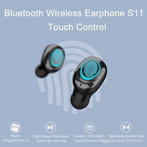 Image 4 - Беспроводные наушники AERBOS Tws S11, Bluetooth 5,0, сенсорное управление, наушники вкладыши с микрофоном, мини наушники с внешним аккумулятором 3500 мАч