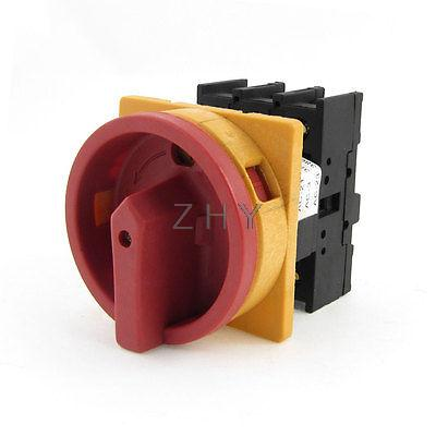 Rotary Handle On-Off 2 Position Universal Combination Cam Switch AC 380V 32A
