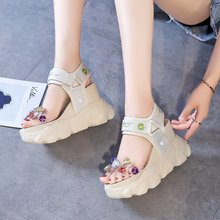 Increased sandals female 2020 summer new fashion wild thick bottom muffin sandals sports casual sandals Z922 sandals female 2020 summer new fashion wild sports casual sandals increased thick bottom muffin sandals z922
