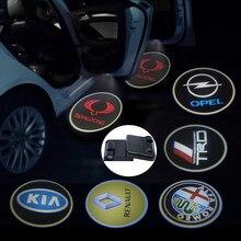 2pcs Da Porta de Carro Vindo Logo Luz Auto Lâmpada para Mazdas 2 3 4 5 6 7 8 Sedan 121 323 626 MPV Tribute MX5 2 CX5 3 7 RX7 Artis 97 99