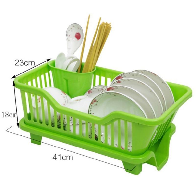 Plastic Cutlery Holder Kitchen Multifunctional Wrought Iron Chopsticks Rack Drain Storage Basket Kitchen Sink Hanging  hot