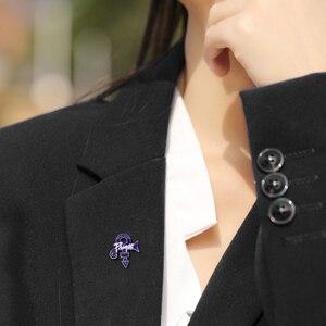 Рип принц булавка фиолетовый дождь любовь значок символа музыка памятные ювелирные изделия