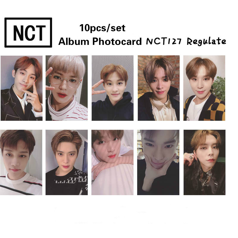 10pcs/set Fashion NCT 127 HD Photocard Good Quality NCT127 Regulate Album Photo Card NCT Dream Supplies New Arrivals