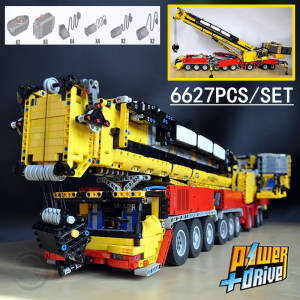 Toy Ltm Bricks Building-Blocks Crane Technic MOC Functions New 1750 Gift Motor-Moc-5721-Kit