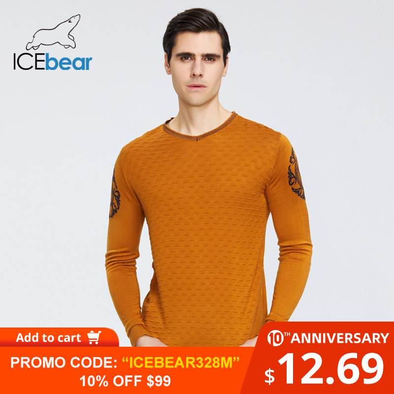 ICEbear Spring 2020 New Men's Sweater Warm O-neck Sweater Brand Clothing 9003