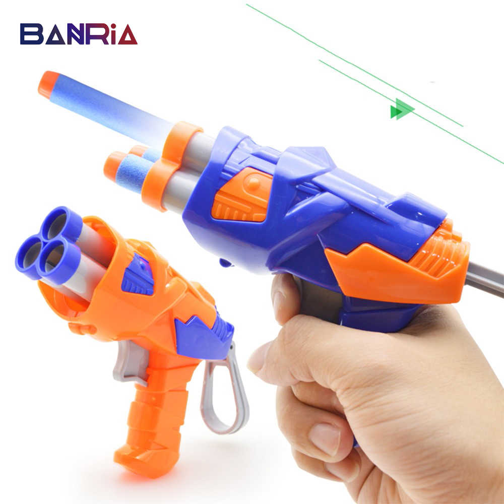 Toy Gun With 3pcs/4pcs  Soft EVA Bullet For NERF N-Strike Bullet Darts Round Head Blasters EP Children Toys