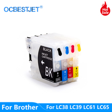 LC38 LC39 LC61 LC65 LC67 LC980 LC985 LC990 LC1100 многоразовый чернильный картридж для Brother Φ 185C 195C J315W