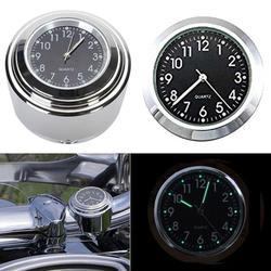 Uniwersalny aluminiowy wodoodporny Glow Motorcycle Motor uchwyt na kierownicę zegarek kwarcowy świecąca tarcza zegar akcesoria do motocyklu w Kierownica od Samochody i motocykle na