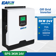 EASUN POWER 3000W Pure Sine Wave Soalr Inverter 230VAC 24V 50Hz/60Hz 3000VA PWM 70A Charge Current inversor With Battery Charge