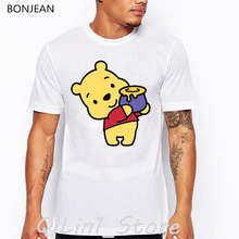 funny t shirts men Bear cartoon print t-shirt camisetas hombre harajuku shirt kawaii clothes  tumblr tops tee shirt homme цена и фото