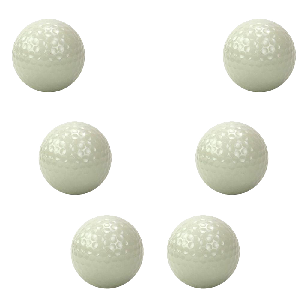 6pcs Luminous Golf Balls Bright Night Floating Glow Golf Balls For Practice