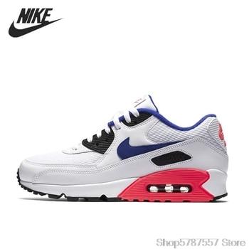 NIKE AIR MAX 90 Men's Running Shoes Essential Breathable Sports Sneakers Tenis Nike Air Max 90 Men's 537384-136