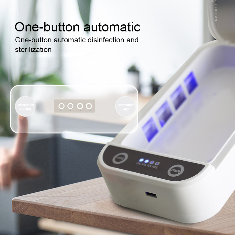 UV Disinfection Box Phone Sterilizer Box Personal Jewelry Phones Cleaner Sanitizer Disinfection Box Cabinet 5V 9W