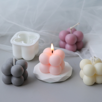 New DIY Candles Mould wax Candles mold Aromatherapy Plaster Candle 3d Silicone Mold Handmade Soy Cube Soap Molds