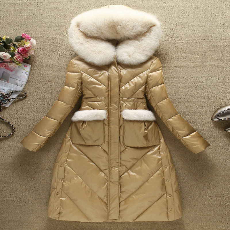 2019 Winter Jackets Fashion Women's Down Jacket With Real Fox Fur Hooded Thick Warm Duck Down Coat Female Hiver YRF-1892