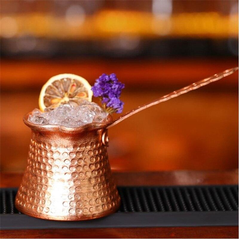 Aluminum Plated Copper Turkish Greek Coffee Pot Warmer with Handle Turk Cezve Cafeteria Coffee Maker 2-3 People Turkey Teapot