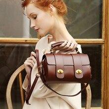 New Arrive 2019 Women's Boston Bag High Quality Genuine Leather Handbags Vintage